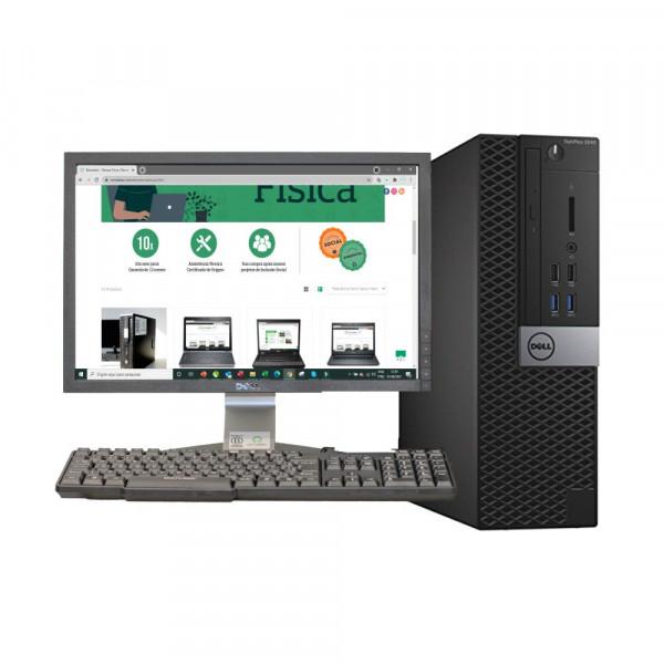 CONJUNTO DESKTOP DELL OPTIPLEX 3040 SLIM ( i5 6ª 8 GB DDR 3L 500GB ) SEMINOVO REMAKKER