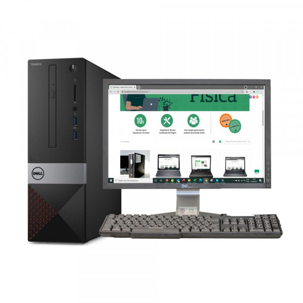 CONJUNTO DESKTOP DELL VOSTRO 3250 SLIM ( i5 6ª 4 GB DDR 3L SSD 180GB ) SEMINOVO REMAKKER